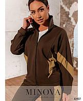Женский стильный спортивный костюм №310 (р.50-60) Шоколад, фото 1