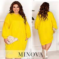 Женское платье №308 (р.50-60) жовтий, фото 1