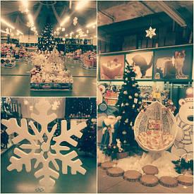 Декор из пенопласта для нового года и других праздников