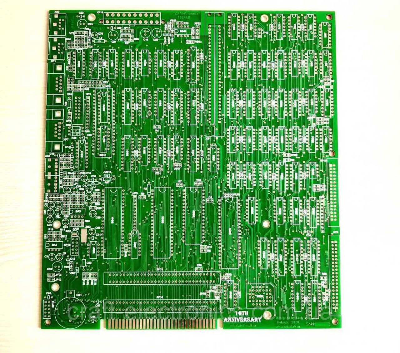 ZXM-Phoenix, ревізія 07.1 друкована плата для складання