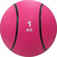 Медбол 1 кг розовый
