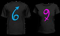 """Парные футболки """" 6 9 """""""