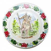 Тарелка Харьков с казаком расписная 24 см 30440, КОД: 1366622