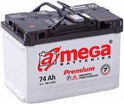 Купить в Киеве аккумулятор 74 а\ч Амега премиум, продажа аккумуляторов со склада цена