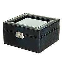 Шкатулка для часов и браслетов 6 шт. Черный (0505-003)
