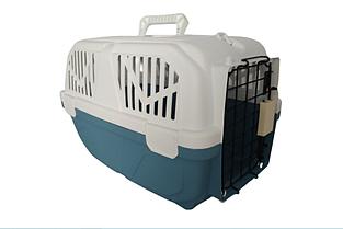 Переноска AnimAll Р 1095 для котов и собак 52х35х33см синяя