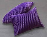 Двуспальный комплект постельного белья зима-лето Фиолетовый с плюшем, фото 2