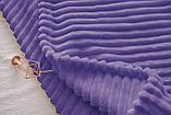 Двуспальный комплект постельного белья зима-лето Фиолетовый с плюшем, фото 3