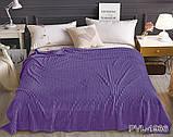 Двуспальный комплект постельного белья зима-лето Фиолетовый с плюшем, фото 4
