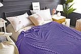 Двуспальный комплект постельного белья зима-лето Фиолетовый с плюшем, фото 5