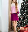 """Прямое трехцветное молодежное трикотажное платье """"Кристи"""", фото 3"""