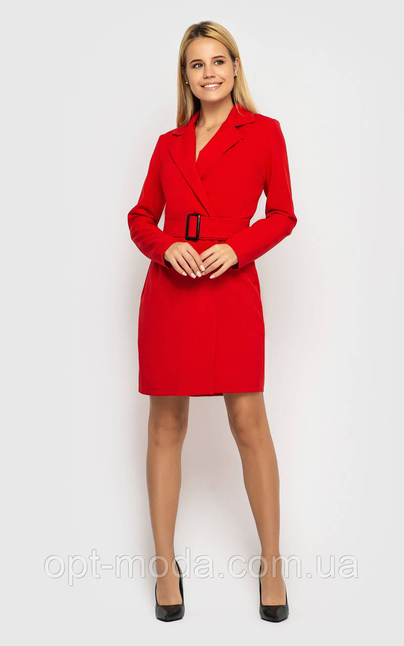 """Деловое женское платье-пиджак с глубоким вырезом """"Impressive"""""""