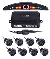 Парктроник PULSO LP-10180/LED/8 датчиков D=22mm/коннектор/Black/bк