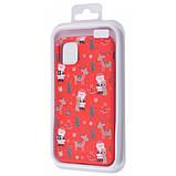 "TPU чехол WAVE Fancy для Apple iPhone 11 Pro Max (6.5"") Santa Claus and Deer / Red, фото 2"
