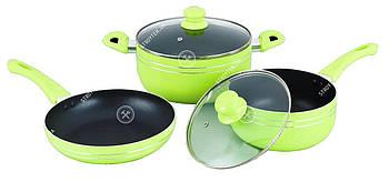 Набор посуды GT-2405/1 зеленый Gusto 5 предметов