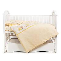 Детская постель для новорожденных сменная в кроватку Twins Comfort С-010 Медуны, желтый