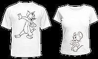 """Парные футболки """"Том и Джерри - 2"""", фото 1"""