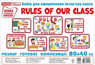 1 – 2 клас. НУШ Набір карток Правила нашого класу, Ранок