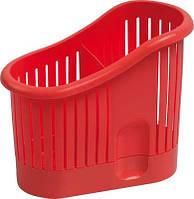 Сушка для столовых приборов пластиковая красная 140Х65Х145 мм Curver CR-0106