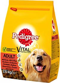 Сухой корм Pedigreе с говядиной и птицей 2,6кг для взрослых собак