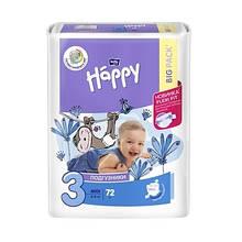 ПІДГУЗКИ HAPPY BELLA (BIG PACK) №3 (5-9 кг) 72 шт.