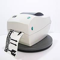Принтер Zebra TLP 2844 для печати штрихкодов на бумаге и полипропилене. Интерфейс: USB, LAN, COM