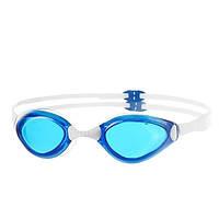 Широкие очки для подводного плавания голубые Speedo