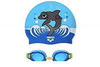 Очки для плавания детский и шапочка Arena