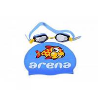 Очки для плавания и шапочка Arena