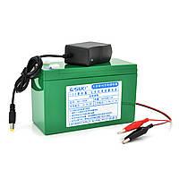 Аккумуляторная батарея литиевая QSuo 12V 6A с элементами Li-ion 18650  (150X64,5X97,7) + зарядное устройство