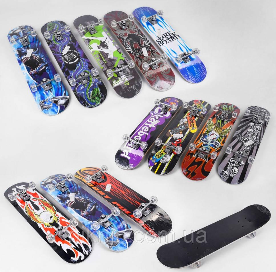 Скейт для подростков дека 79 см, колеса PU диаметром 5 см, китайски клен, подшипники ABEC-5. Скейтборд