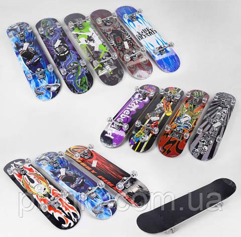 Скейт для подростков дека 79 см, колеса PU диаметром 5 см, китайски клен, подшипники ABEC-5. Скейтборд, фото 2