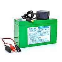 Аккумуляторная батарея литиевая QSuo 12V 10A с элементами Li-ion 18650  (150X64,5X97,7)  + зарядное устройство