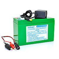 Аккумуляторная батарея литиевая QSuo 12V 12A с элементами Li-ion 18650  (150X64,5X97,7) + зарядное устройство