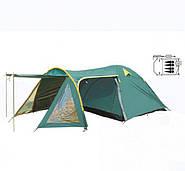 Палатка кемпинговая четырехместная с тамбуром
