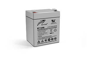 Акумуляторна батарея AGM RITAR RT1250, Gray Case, 12V 5.0Ah  ( 90 х70 х 101 (107) ) Q10