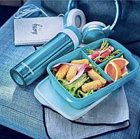 Tupperware набір термочашку в Один клік 430мл і ланч бокс Здоровий перекус 1л, фото 1