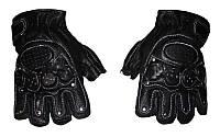 Перчатки спортивные мужские кожаные
