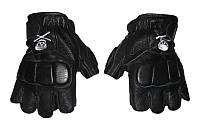 Перчатки спортивные женские кожаные