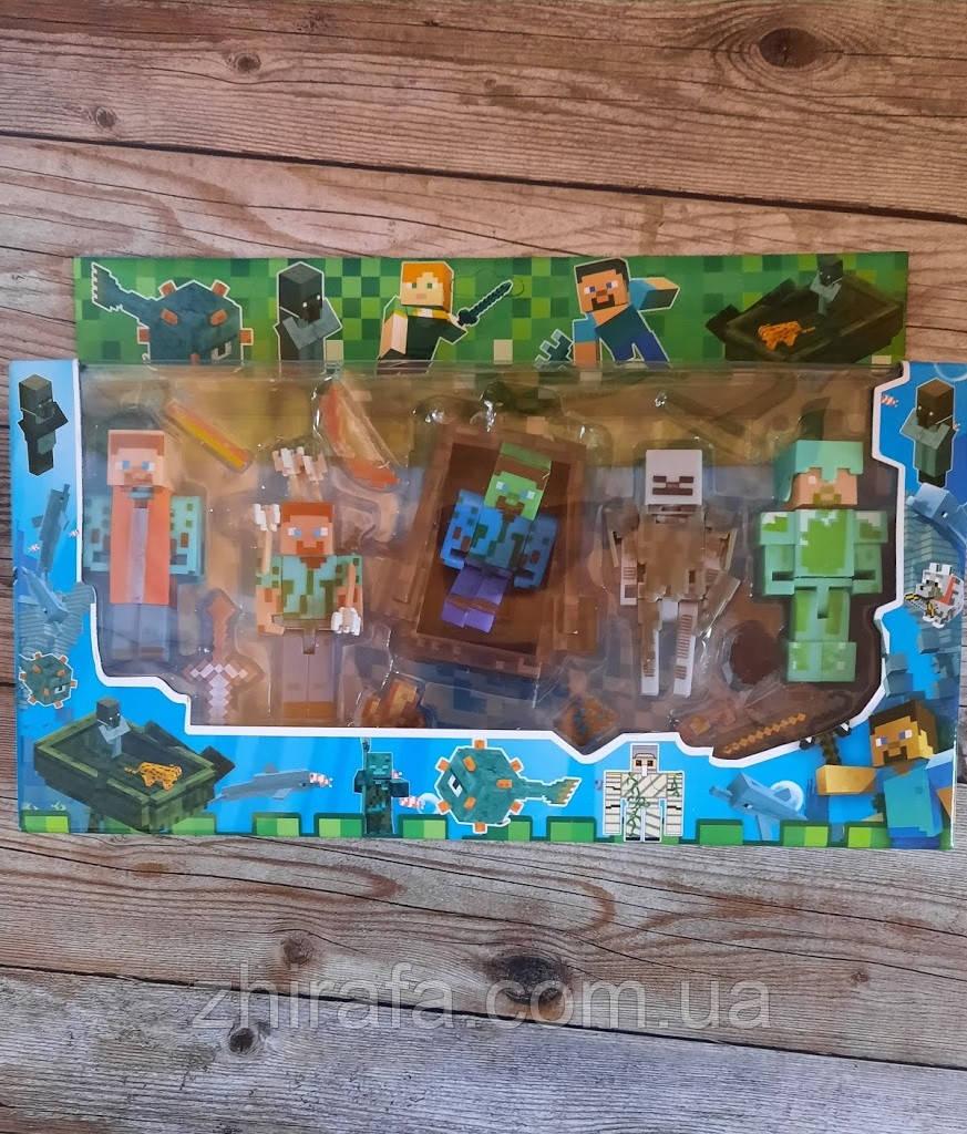 Набір фігурок Майнкрафт герої гри Minecraft