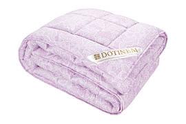 Шерстяное полуторное одеяло DOTINEM SAXON сатин овечья шерсть 145х210 см