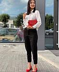 Женские брюки, костюмка класса люкс, р-р 42-44; 46-48; 50-52 (чёрный), фото 2