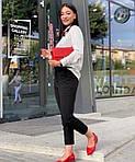 Женские брюки, костюмка класса люкс, р-р 42-44; 46-48; 50-52 (чёрный), фото 3