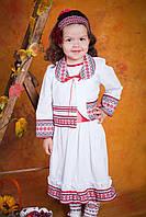 Платье для девочки с вышивкой, размер 28