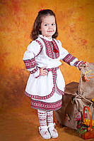 Украинский вышитый костюм для девочки, размер 28