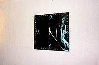 Часы на стекле с вашим фото квадратные 30*30см интерьерные сувенирные