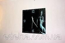 Годинник на склі з вашим фото квадратні 30*30см інтер'єрні сувенірні