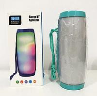 Портативная bluetooth колонка влагостойкая с разноцветной подсветкой TG-157