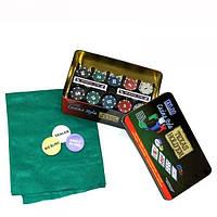 Покерный набор на 200 фишек в коробке