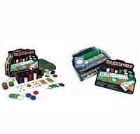 Покерный набор на 200 фишек и 5 игральных костей (кубиков)
